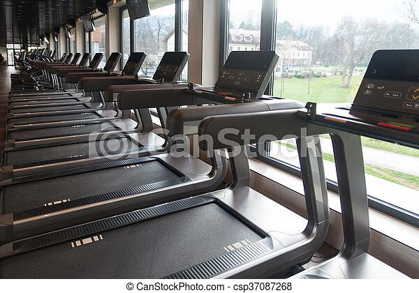Gym Fitness Center Interior - csp37087268
