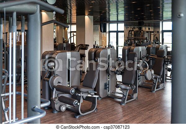 Gym Fitness Center Interior - csp37087123