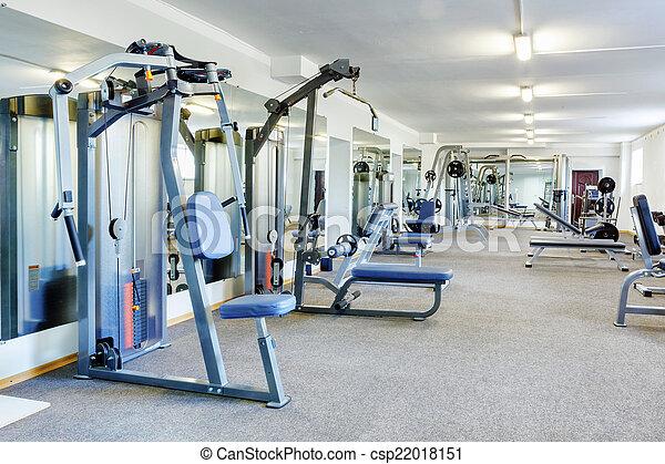 Gym interior. - csp22018151