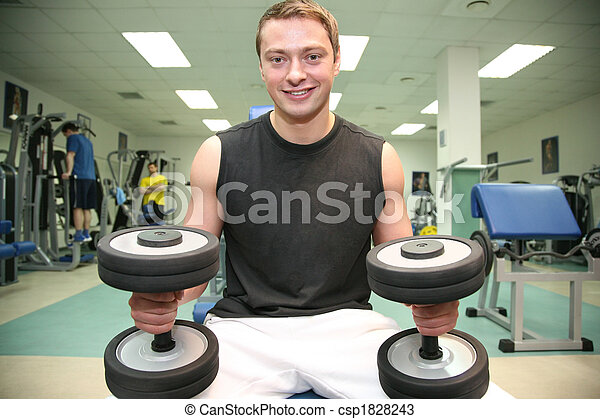 gym man with dumbbell 4 - csp1828243