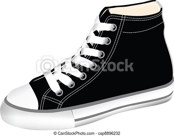 Line Art Shoes : The vector image sports footwear gym shoes illustration