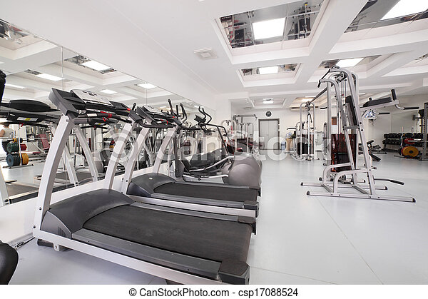 gym with special equipment, empty - csp17088524