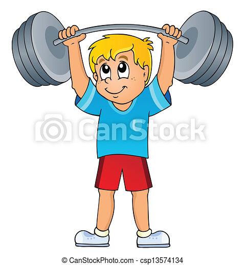 gymnase, sport, thème, 7 - csp13574134