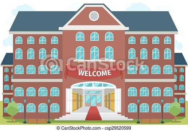 gymnasium, herzlich willkommen - csp29520599