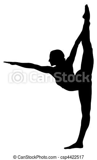 Gymnastic Abstract Vecror Illustration Of Gymnastic