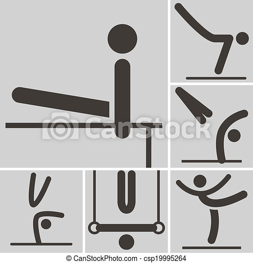 Gymnastics Artistic icon - csp19995264