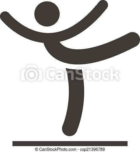 Gymnastics Artistic icon - csp21396789