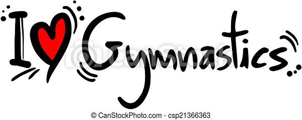 Gymnastics  love - csp21366363