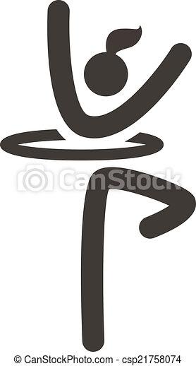 Gymnastics Rhythmic icon - csp21758074