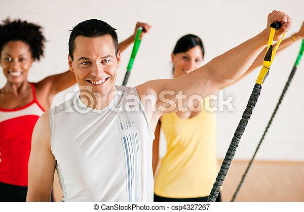 Gymnastics  training in gym - csp4327267