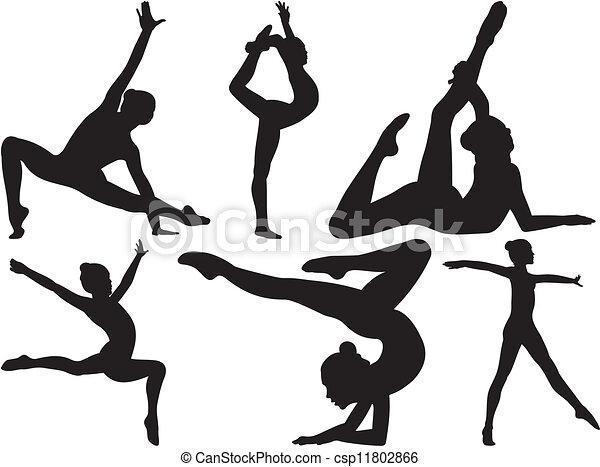 gymnastique, fitness - csp11802866