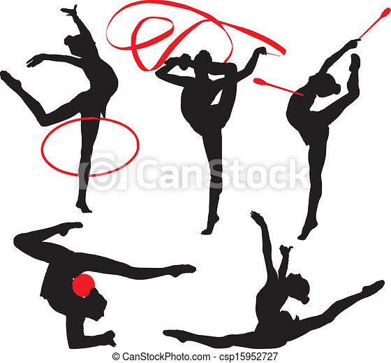 gymnastique rythmique - csp15952727