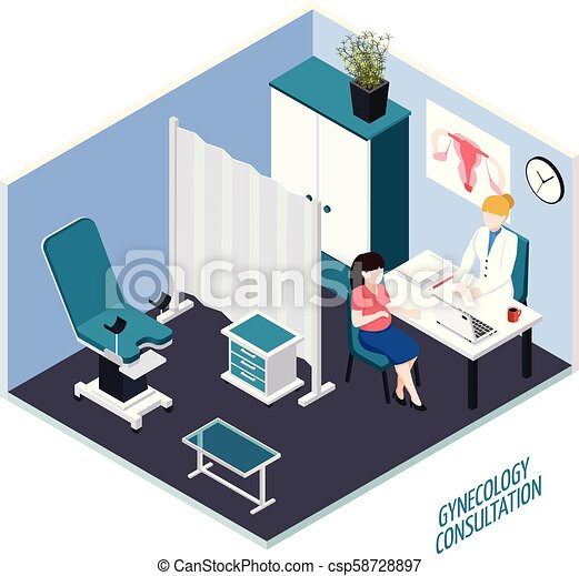 Gynecology Consultation Isometric Composition - csp58728897