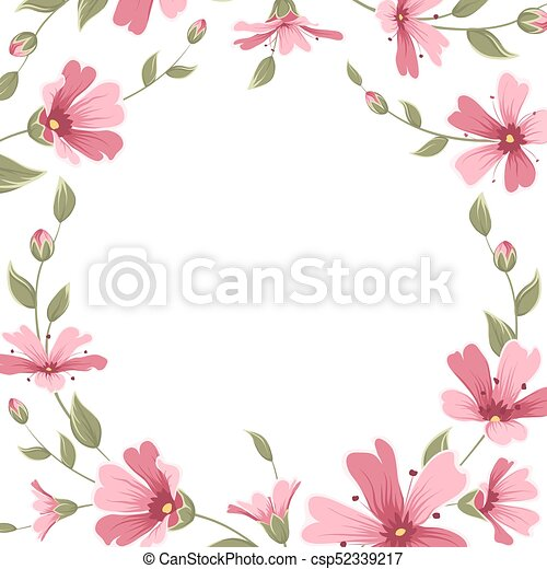 Gypsophila babys breath flower border frame wreath gypsophila babys gypsophila babys breath flower border frame wreath csp52339217 mightylinksfo