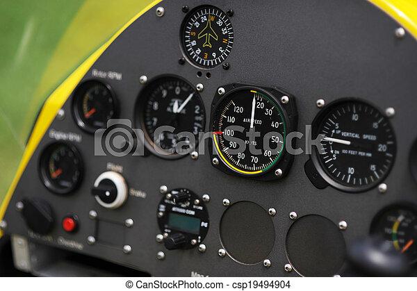 Gyroplane instrument panel - csp19494904