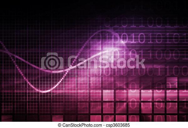 háttér, digitális - csp3603685