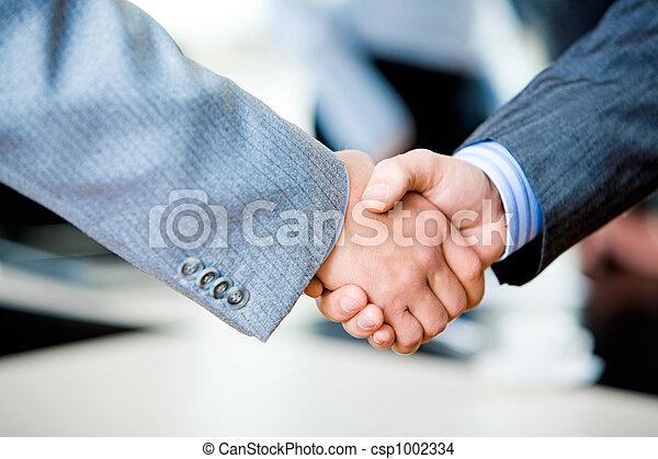 hã¤ndedruck, businesspeople - csp1002334