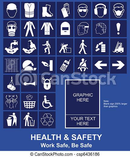 hälsa, säkerhet, underteckna - csp6436186