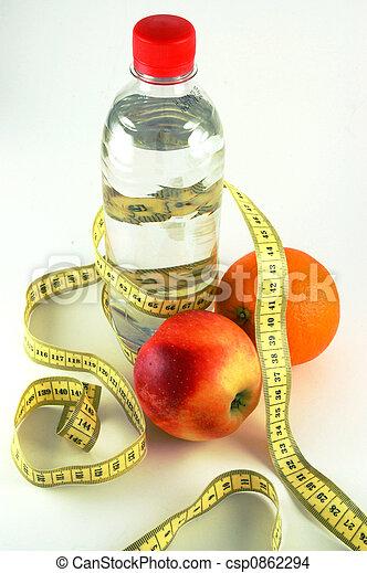 hälsosam, förlust, vikt - csp0862294