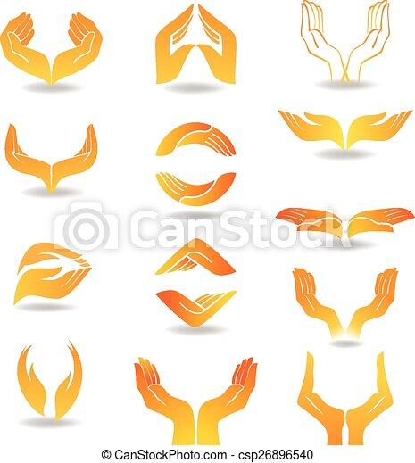 Hands Design Element - csp26896540