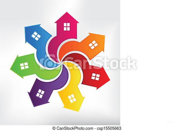 Häuser modernes Logo - csp15505663