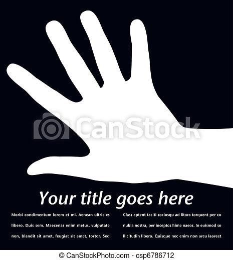 hånd, design., enkel - csp6786712