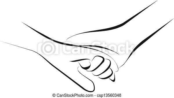 hånd ind hånd - csp13560348