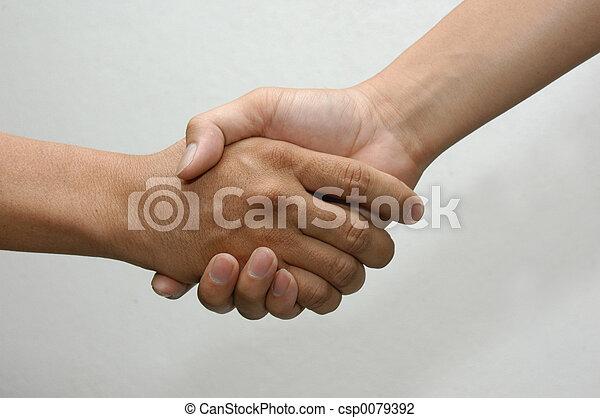 hånd ryst - csp0079392