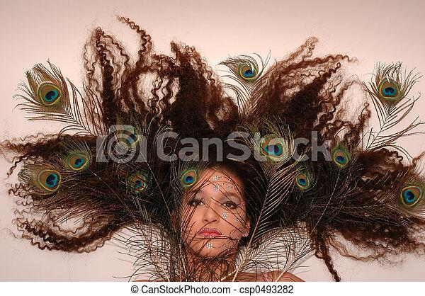hår, tokig - csp0493282