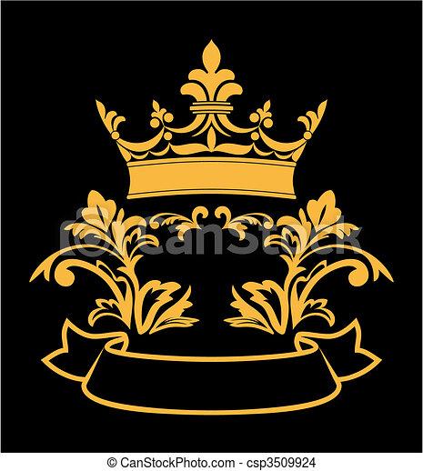 héraldique, couronne - csp3509924