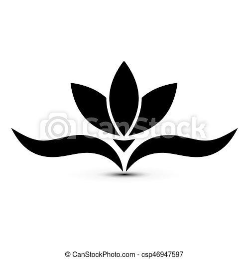 Héraldique Fleur Noir
