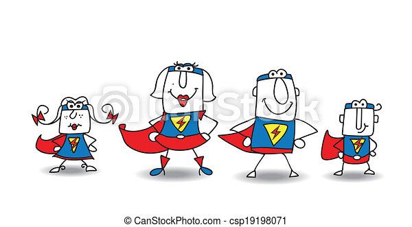 héros super, famille - csp19198071