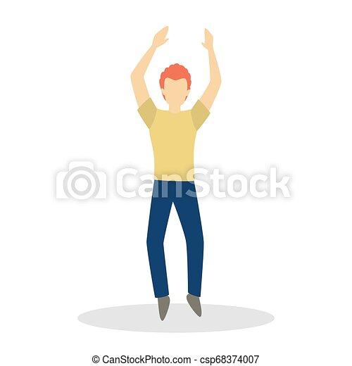 hím, táncol., táncol, betű, ember, gyártás, boldog, mozgalom - csp68374007