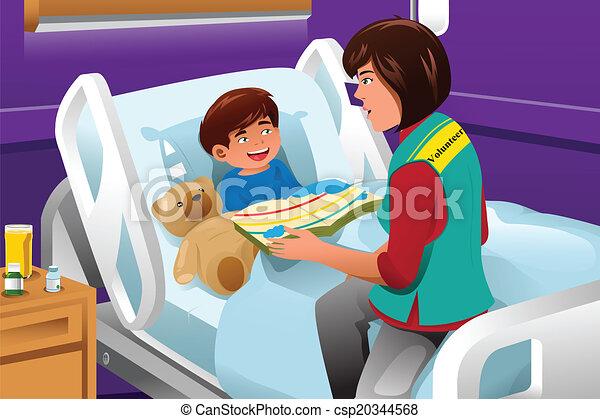hôpital, enfants, volontaire - csp20344568