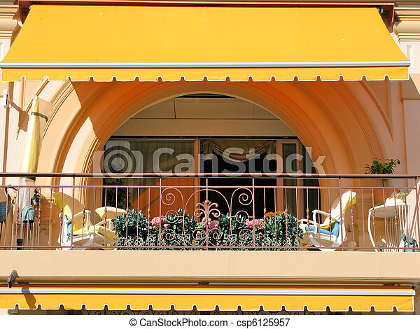 hôtel, luxe, balcon - csp6125957