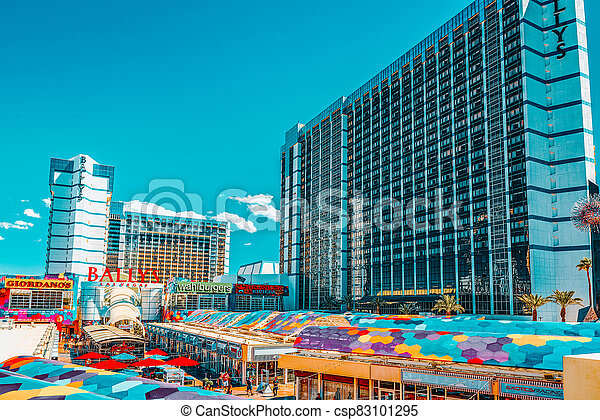 hôtel, recours, principal, strip., rue, ballys., vegas, casino, las - csp83101295