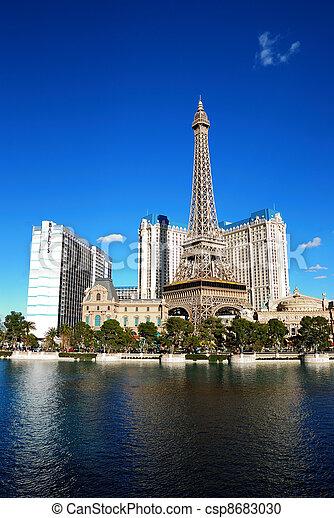 hôtel, vegas, casino, luxe, las - csp8683030