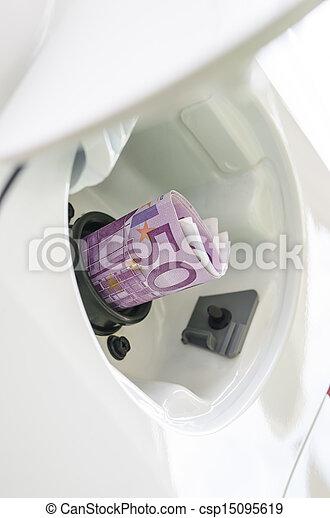 hög, kostar, gas - csp15095619
