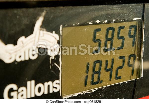 hög, pris, bensin - csp0618291