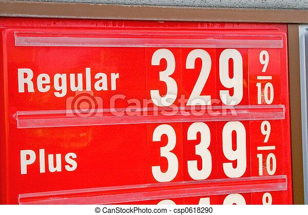 hög, pris, bensin - csp0618290