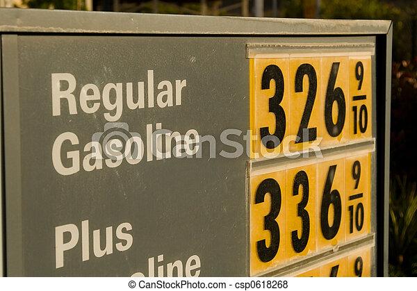 hög, pris, bensin - csp0618268
