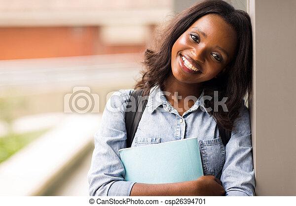 högskola, kvinnligt studerande - csp26394701