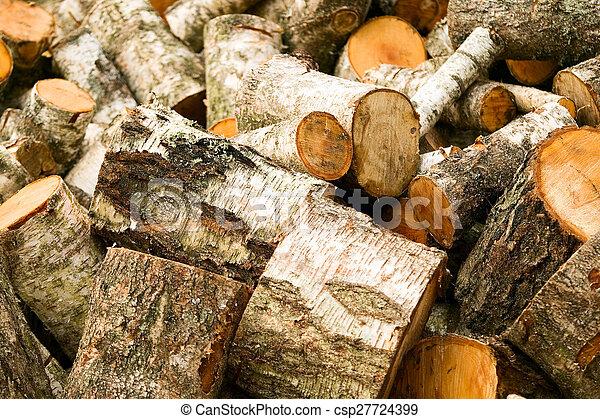 Hintergrund aus Holzschnittholz - csp27724399