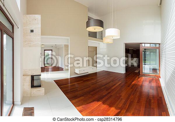 Luxus Parkett hölzern inneneinrichtung luxus parkett wohnzimmer stockfotos