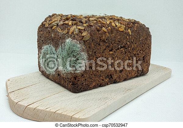 hölzern, roggen, lies, verschimmelt, brett, bread - csp70532947