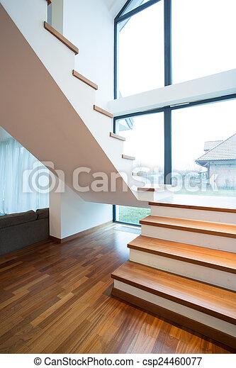 Bevorzugt Hölzern, treppenhaus, einfamilienhaus. Treppenhaus, hölzern RN59