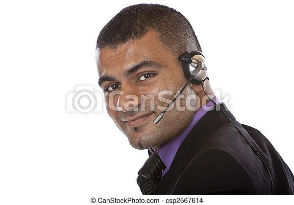 hörlurar med mikrofon, manliga unga, option att köpa centrera, medel - csp2567614