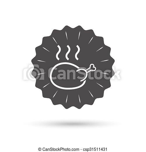hús, jelkép., aláír, madár, icon., csirke, tyúk - csp31511431