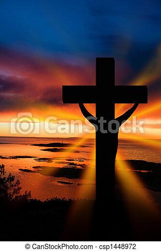 húsvét, kereszt - csp1448972
