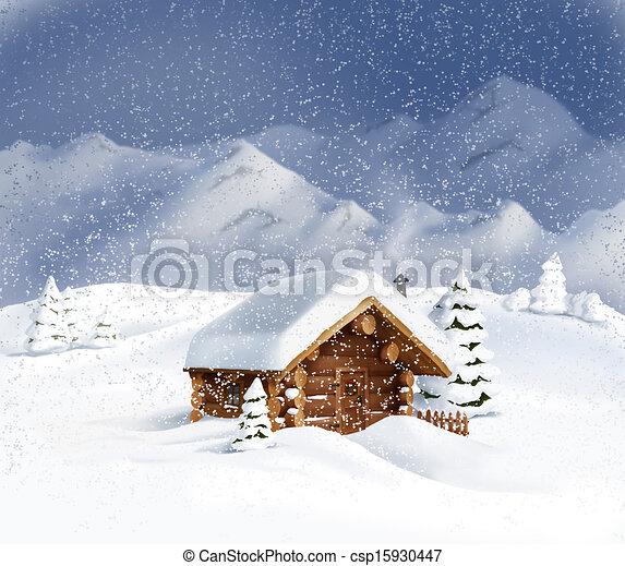 h tte winter schneelandschaft weihnachten winter h lzern raum b ume kiefer h tte. Black Bedroom Furniture Sets. Home Design Ideas